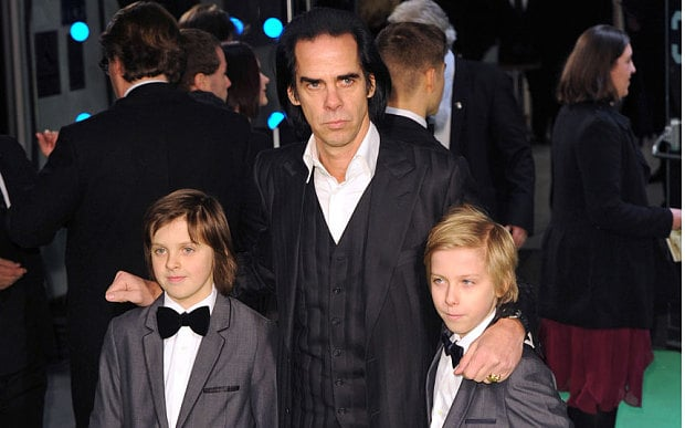 nick cave with his sons